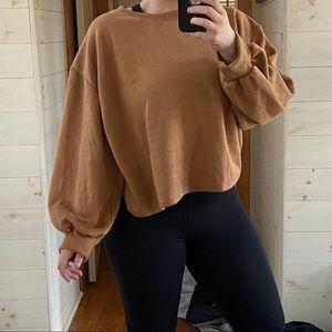 {zara} balloon sleeve sweatshirt